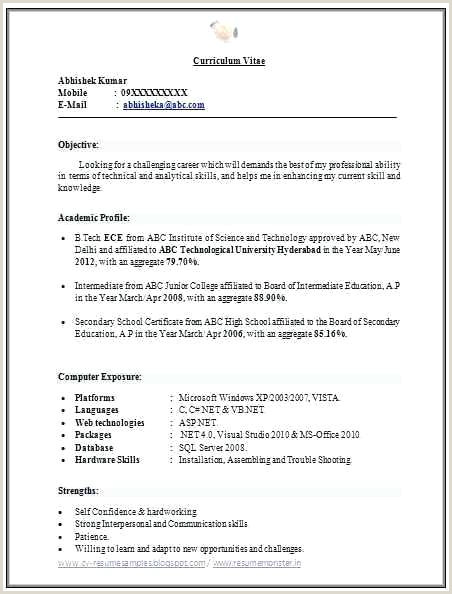 Mba Fresher Resume format Free Download Resumes Samples Free – Newskeyfo