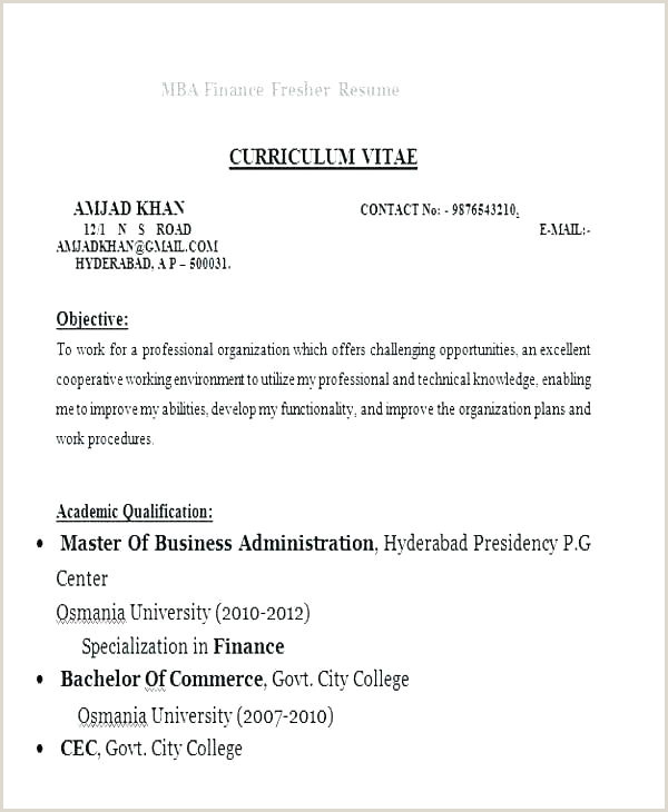 Mba Hr Fresher Resume Format Doc Download Mba Finance Resume Sample – Joefitnessstore