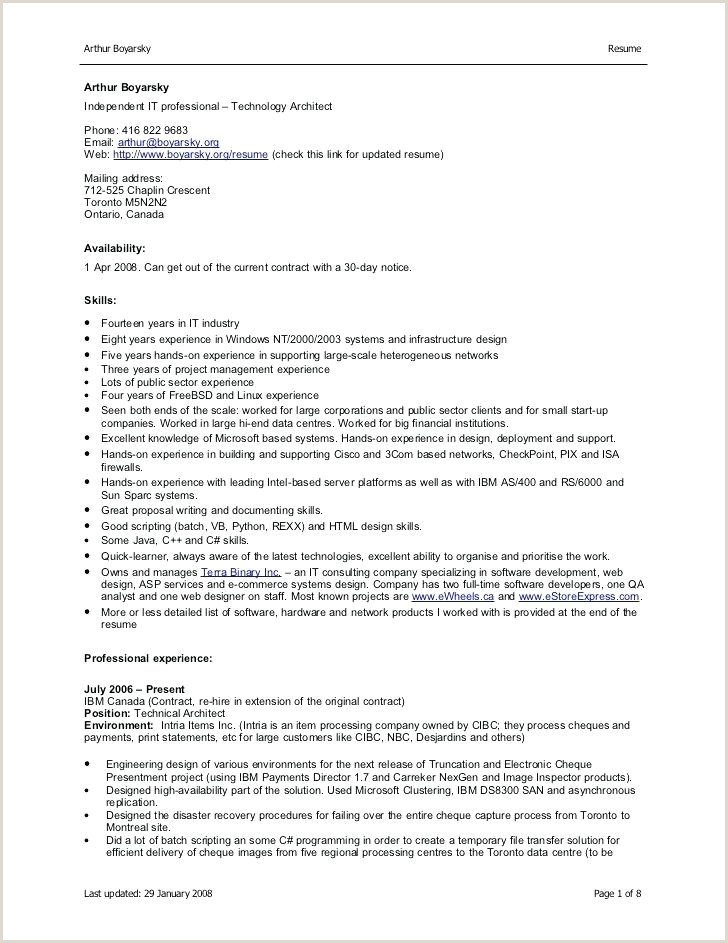 Mca Fresher Resume Format In .doc It Resume Format In Word – Psychepow