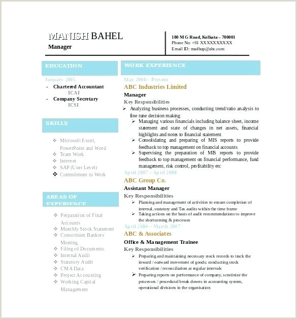 Mca Fresher Resume Format In .doc Latest Resumes Samples Resume For Experienced Format