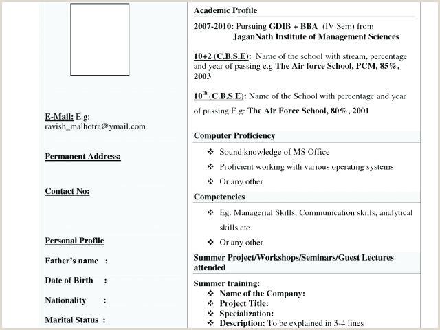 Mca Fresher Resume Format In .doc Resume Format For Mca Elimrpentersdaughter