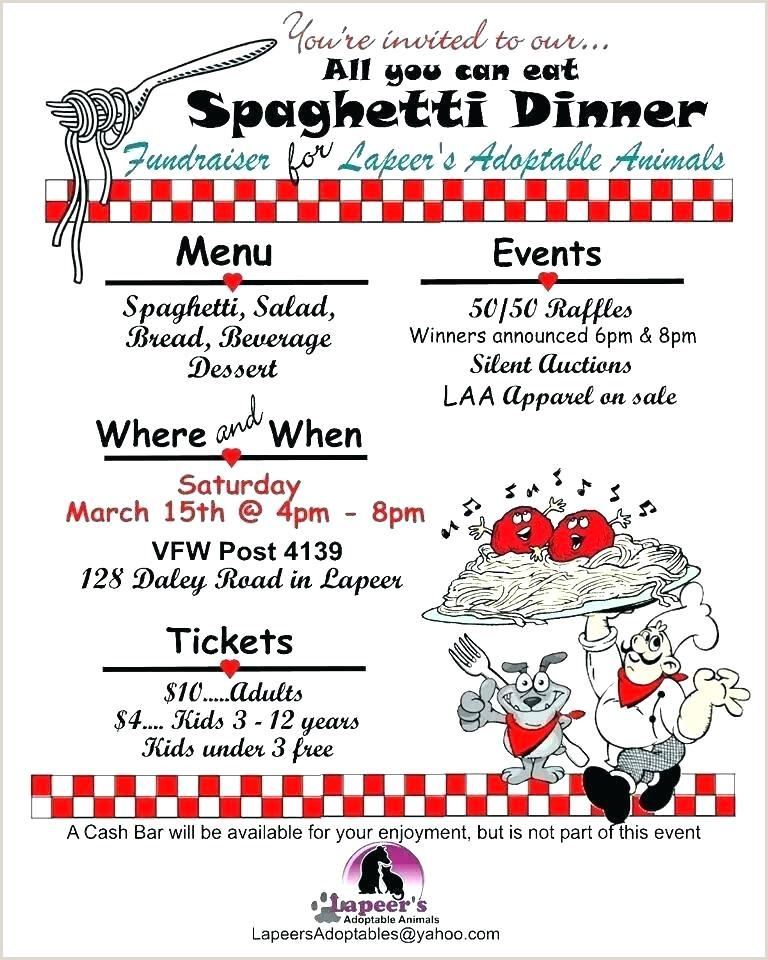 Dinner Ticket Template Free Pasta Fundraiser Flyer Elegant