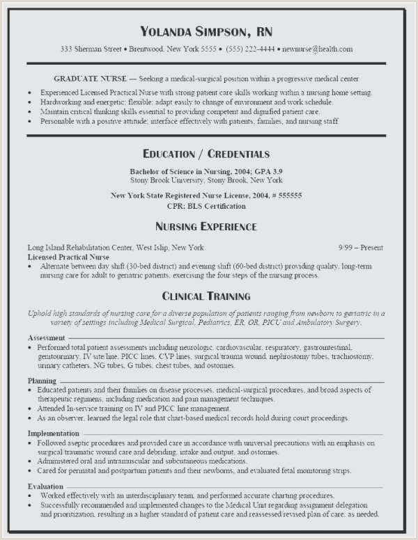 Free Collection 59 Rn Resume Template Picture