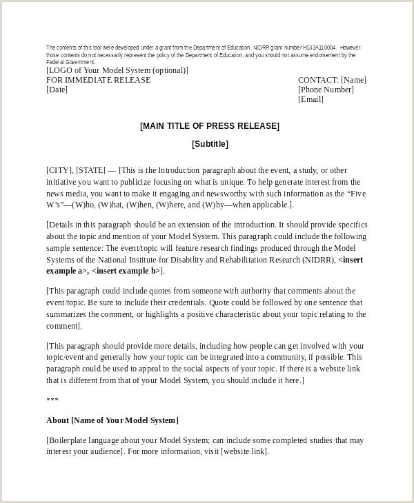 event press release template word
