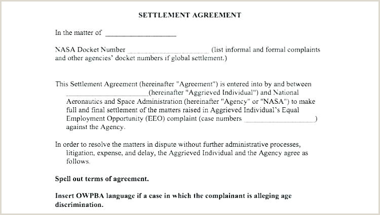 mediation agreement form template