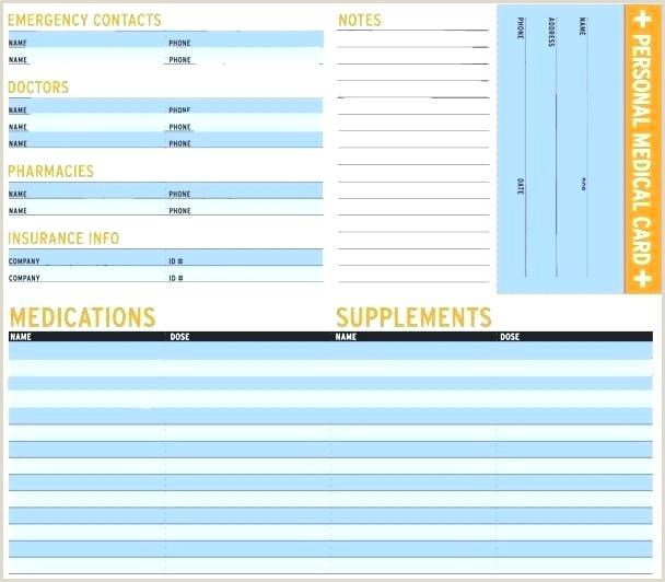 Free Printable Emergency Card Template Medical Alert Wallet