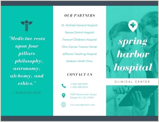 Medical Brochure Template 2 Panel Brochure Template – Aplicatics