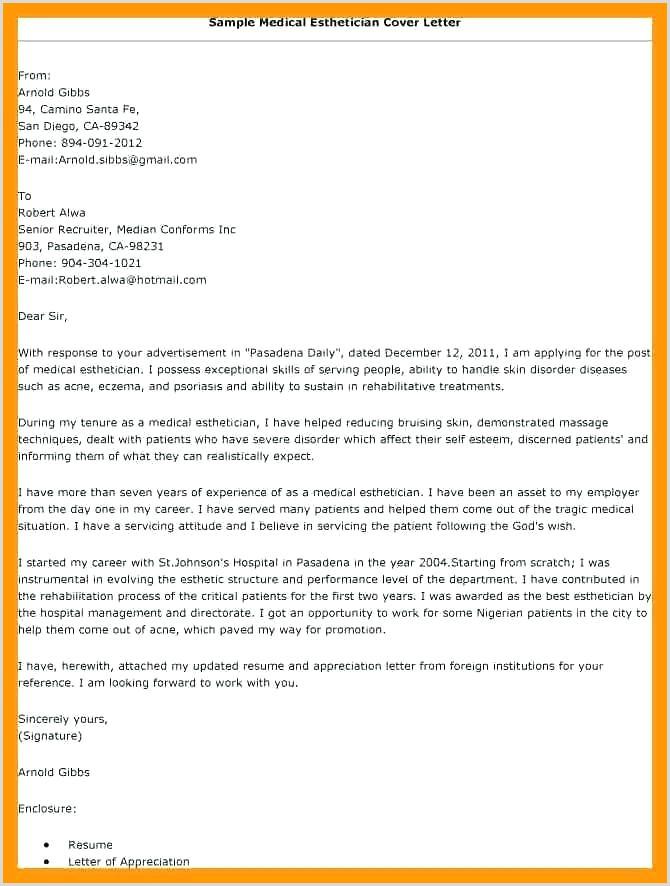 Medical Esthetician Cover Letter Esthetician Cover Letter New Esthetician Cover Letter