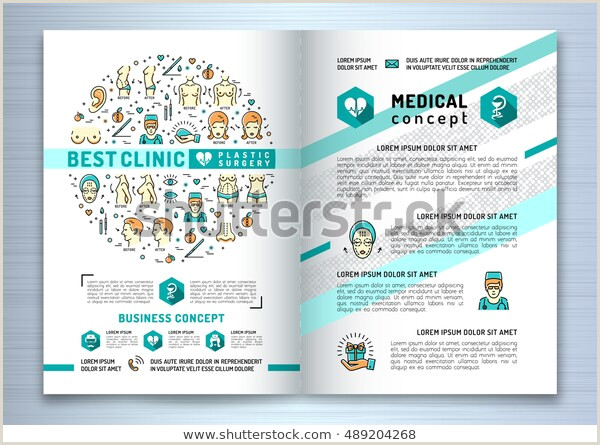 Medical Flyer Template Free Brochure Plastic Surgery Clinics Medical Design Stock Vector