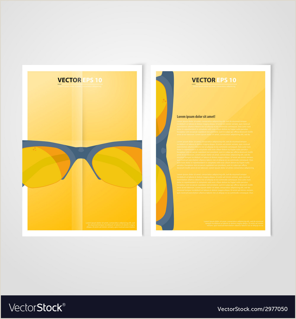 Flyer template back and front design Medical Icons vector image on VectorStock