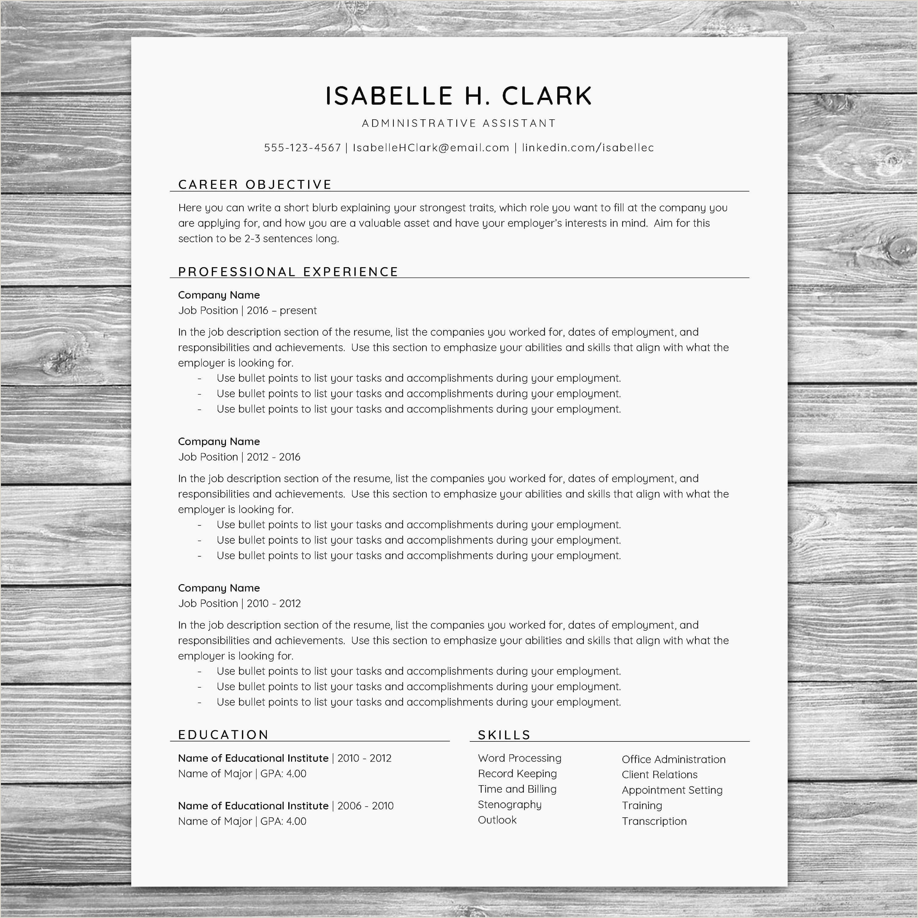 Awesome Medical Administrative assistant Resume – 50ger