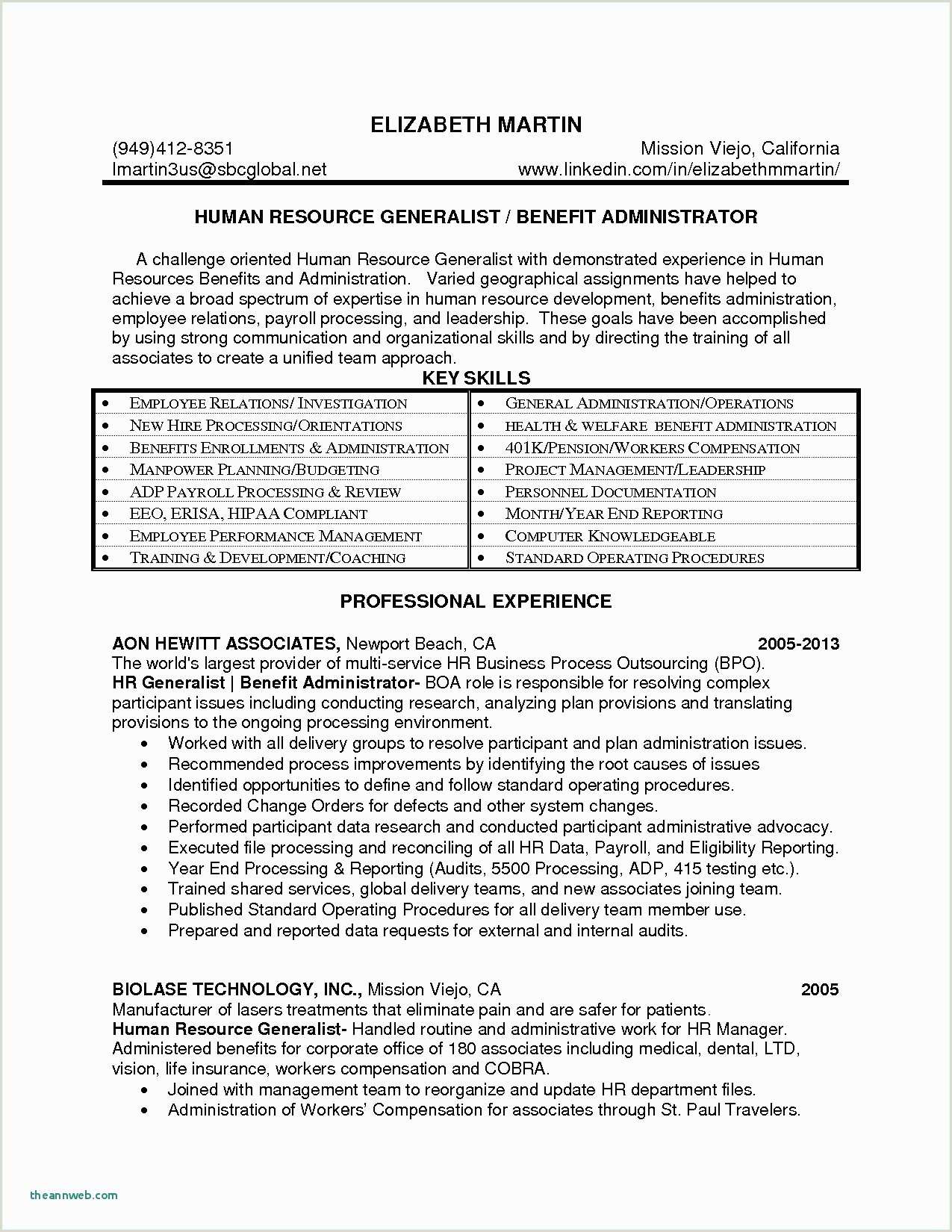 Awesome Resume for fice Manager