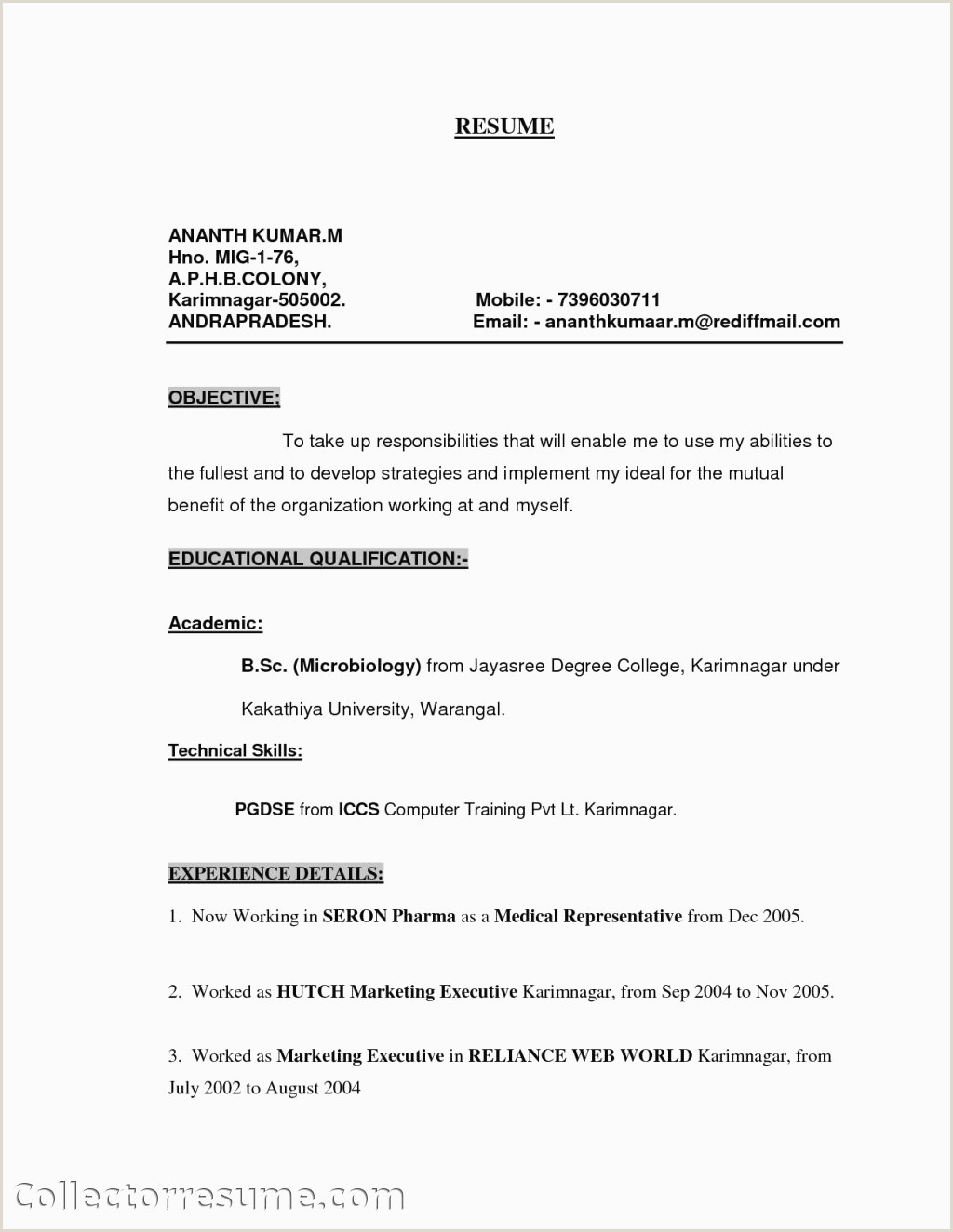 Photo of Medical Representative Resume