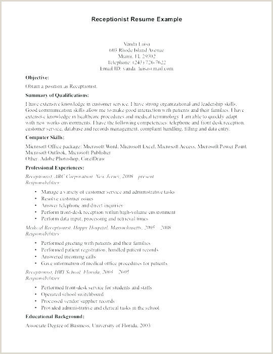 Medical Student Resume Samples Medical Office Receptionist Sample Resume – Podarki