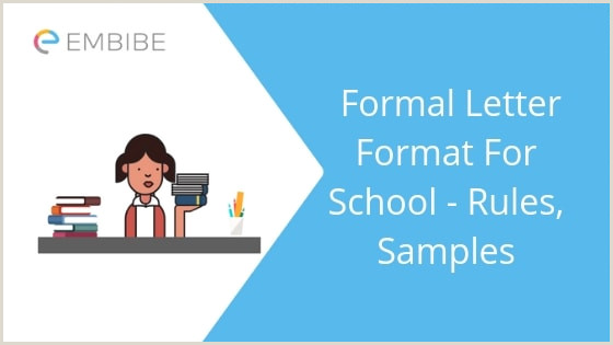 Formal Letter Format For School How To Write A Formal