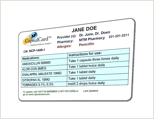 8 Medication Card Templates Doc Free Premium Sample Template