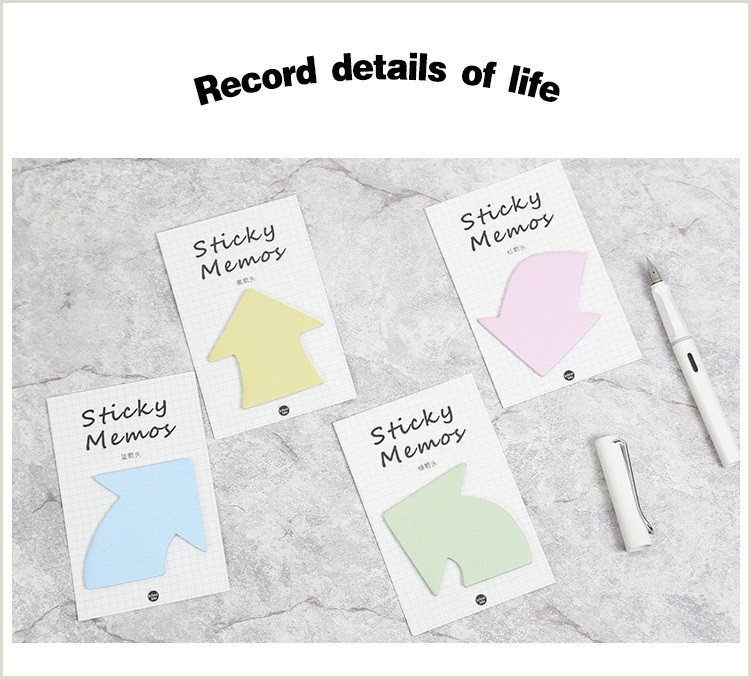 2019 Arrow Sticky Note Record Memo Post Diary Book Sticker Planner Agenda Stationery Items fice School Supplies From Valino $26 64