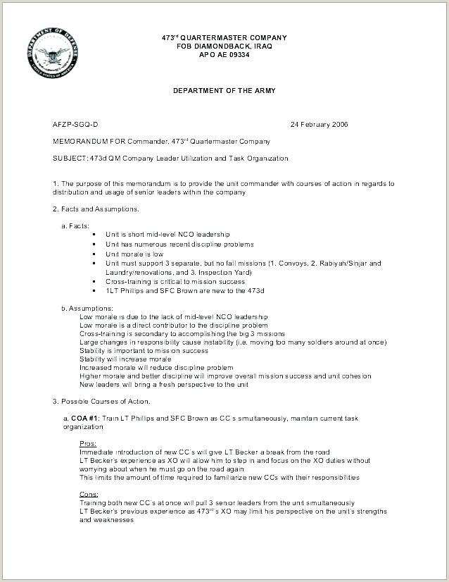 memorandum for record army template – caseyroberts