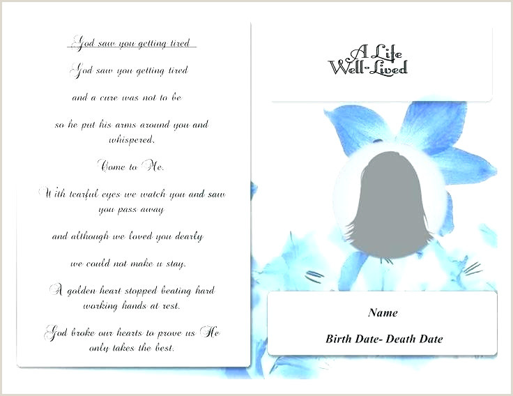 Memorial Card Template Microsoft Word Funeral Memorial Cards Ideas Example Image Detail for