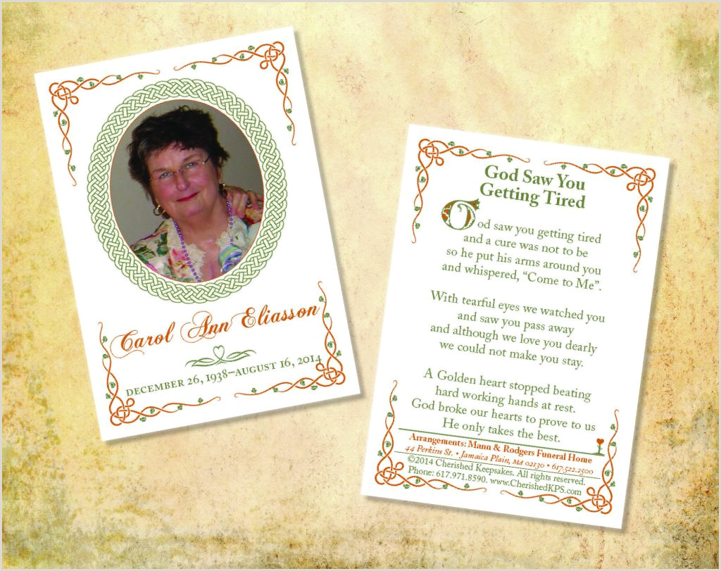 Memorial Card Template Cards For Funeral Free Pleasant Dove