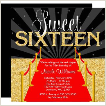 Hollywood Sweet 16 Invitations — RawrPink