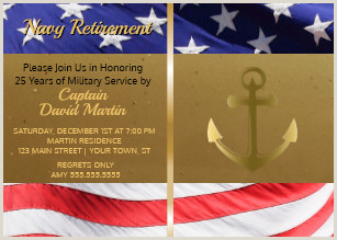 Military Retirement Invitations