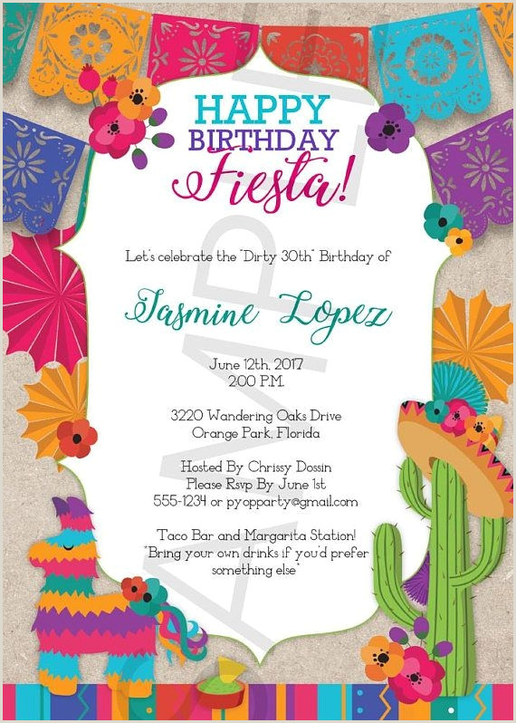 80 Fiesta Invitation Template Free Download Mexican