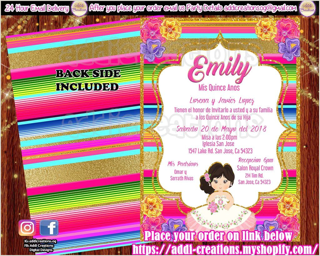 Quinceanera Invitations Mis Quince Anos Invitations