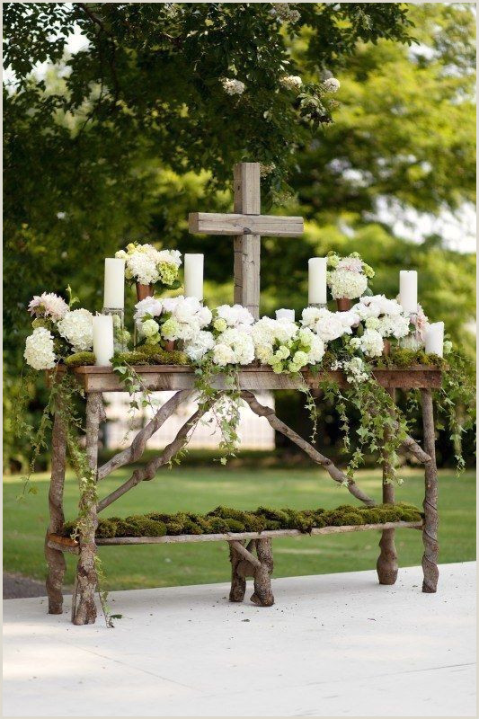 Michigan Rustic Wedding Venues Rustic Wedding Altar Rusticweddingflowers