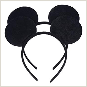 Set of 2 Mickey Minnie Mouse Ears Headband Boys and Girls Birthday Party Mom Hairs Accessories Baby