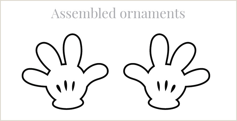 Mickey Mouse Glove Template Hands Template