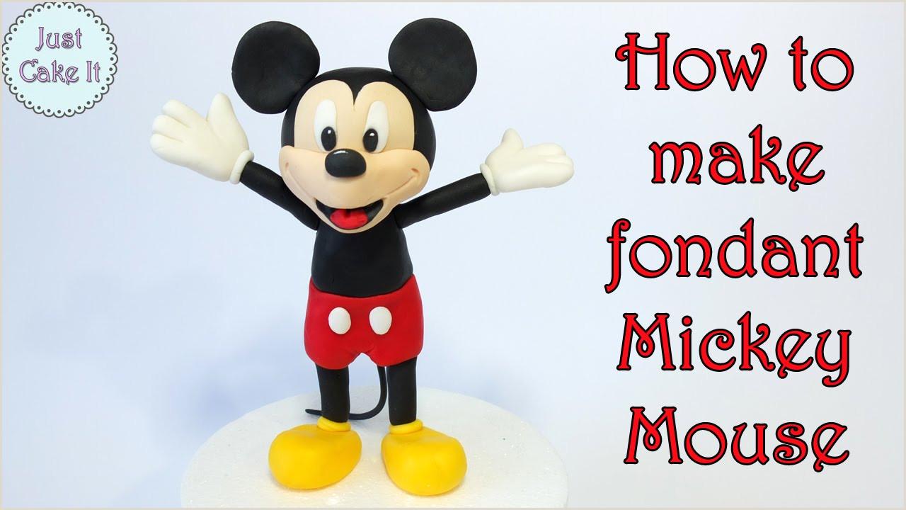 How to make fondant Mickey Mouse Jak zrobić myszkę Miki z masy cukrowej