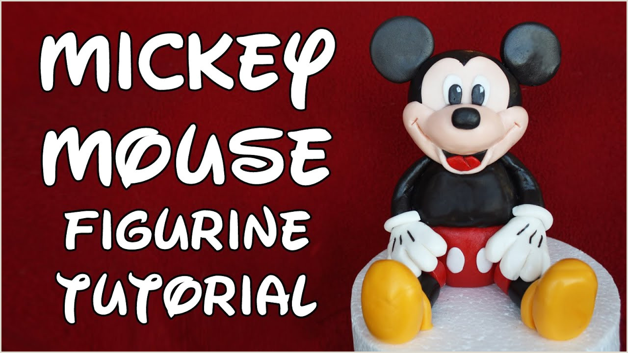 Mickey Mouse Figurine Cake Topper Tutorial How To