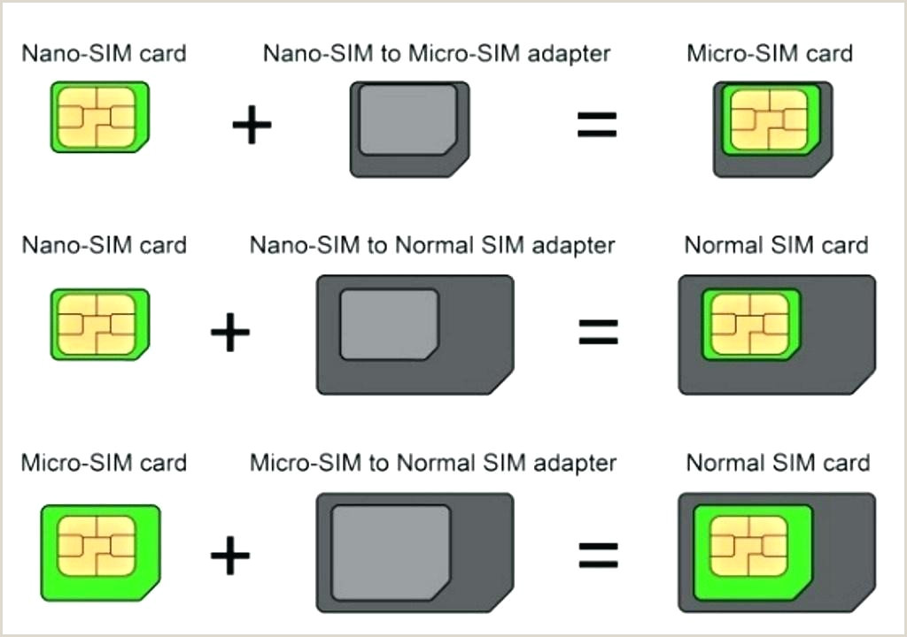 Best Sim Card Adapter Template Micro 7 To Nano Unique Letter
