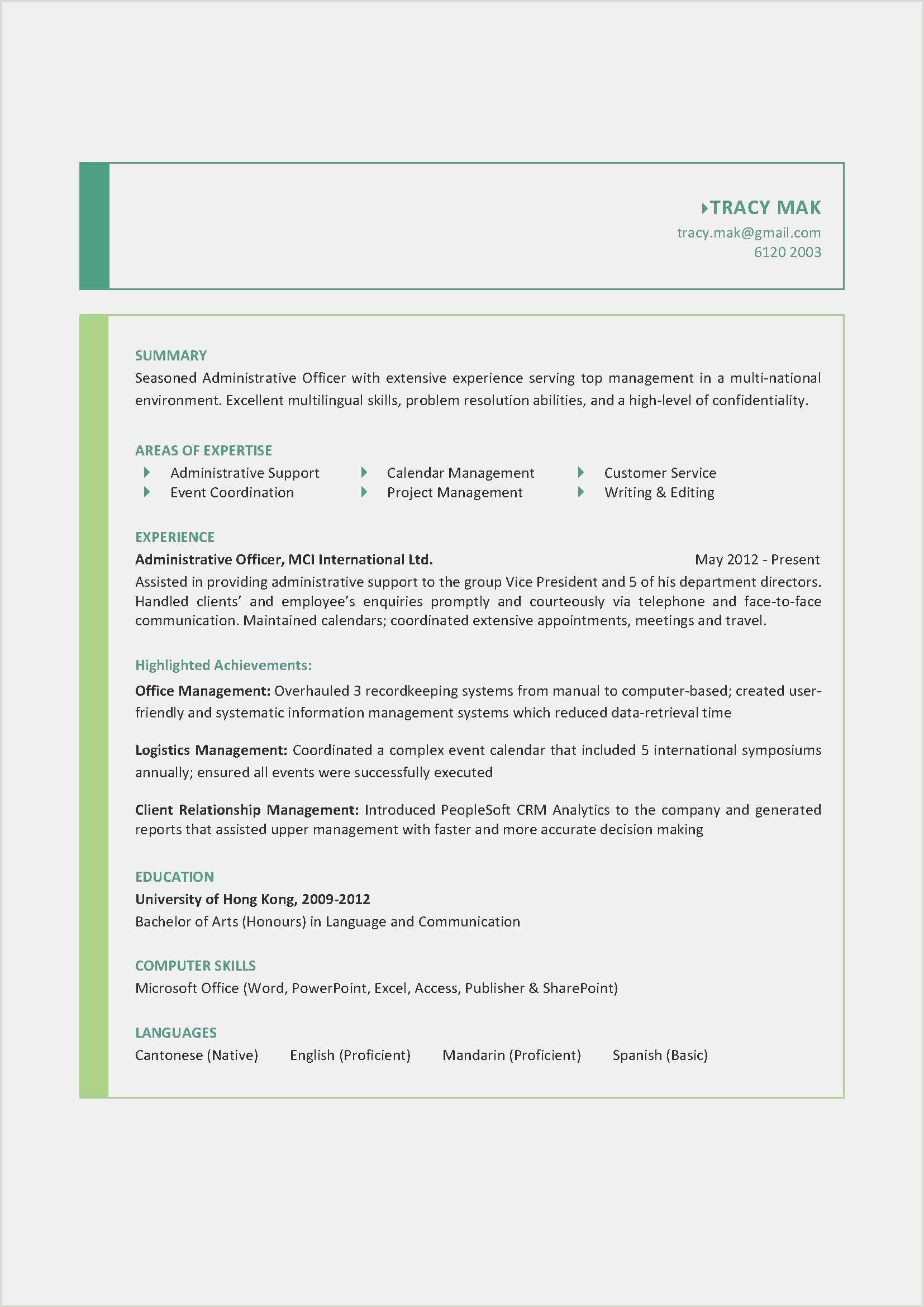 Download Sample Resume Doc New Unique Resume Sample Doc Best