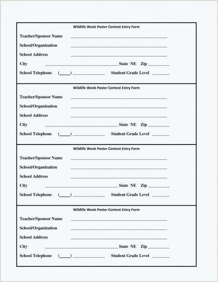 Contest Entry Forms Template Blank Form Word Ballot