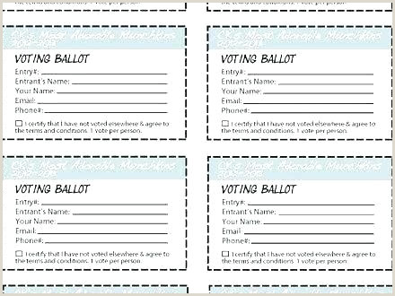 Free Voting Form Template Voter Registration Card Race Proxy