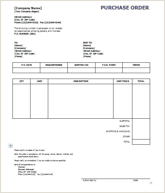 Purchase Order Template ficial Examples Doc Free Premium