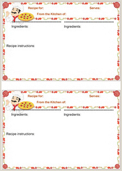 That s Italian Recipe card templates for MS Word