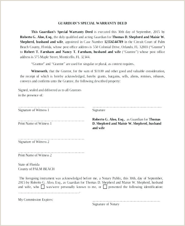 Microsoft Word Warranty Deed Template Deed Medium To Size General Warranty Form Forms