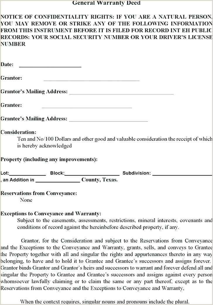 Microsoft Word Warranty Deed Template General Warranty Deed Form Example Legal Definition