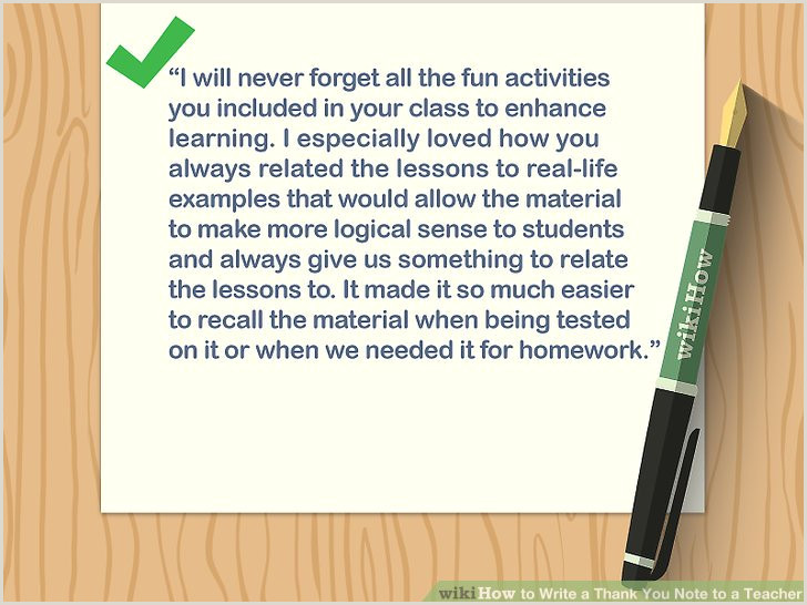 How to Write a Thank You Note to a Teacher with Sample Notes