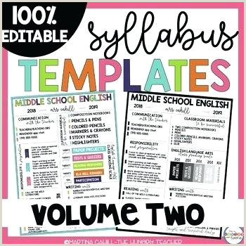 Middle School Syllabus Template High School Course Syllabus Template New Class Proposal