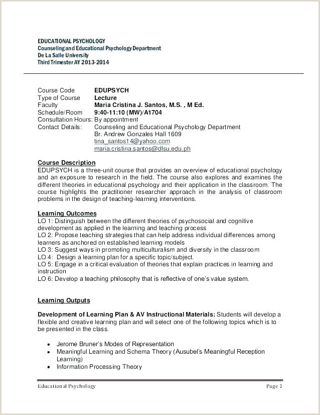 Middle School Syllabus Template College Download Co High