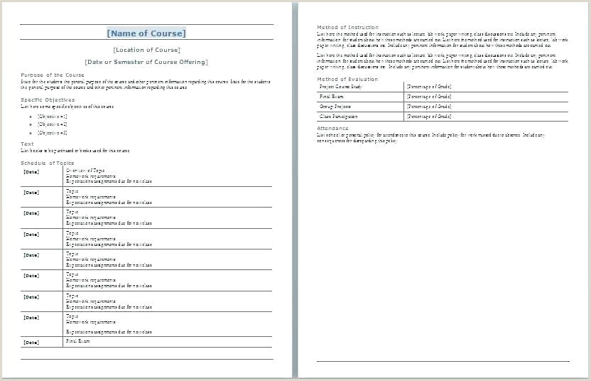 School Syllabus Template Course For Middle English High Science