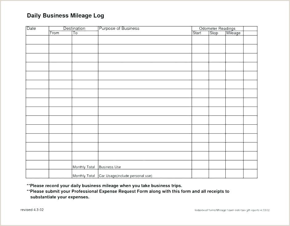Mileage Expense form Template Free Reimbursement Request form Template