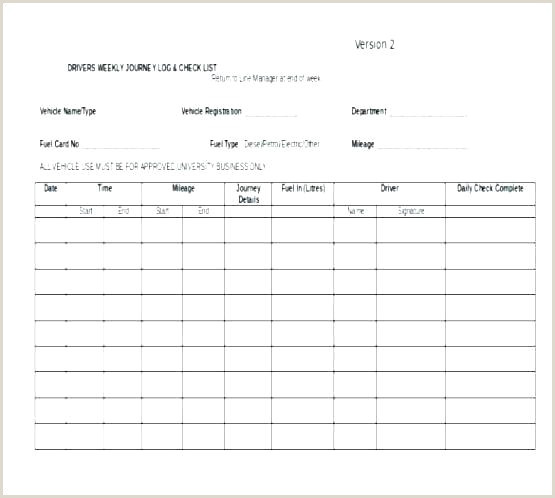 Fuel Mileage Log Template Vehicle Book Excel Manager Consumptio