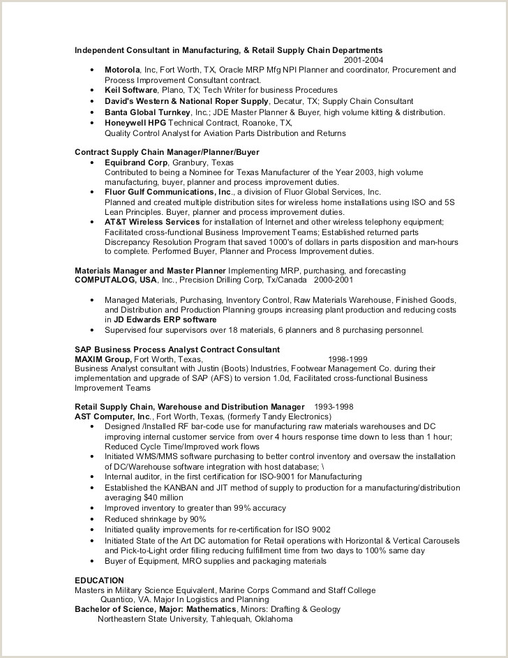 Marine Corps Unique Resume Builder Military to