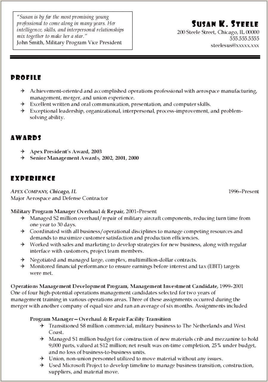 Resume with Experience In – Salumguilher
