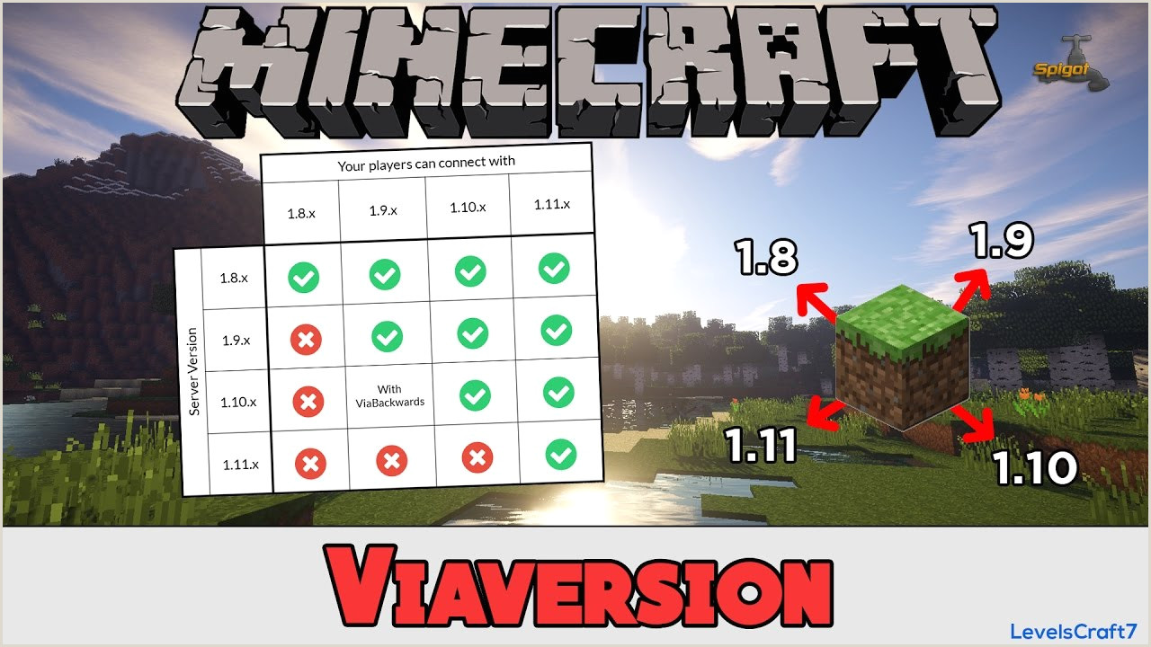 ViaVersion Spigot Plugin Minecraft 1 8 1 9 1 10 1 11 FR Tutoriel